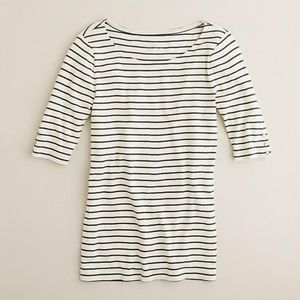 J. Crew Perfect-Fit Stripe Snap Tee